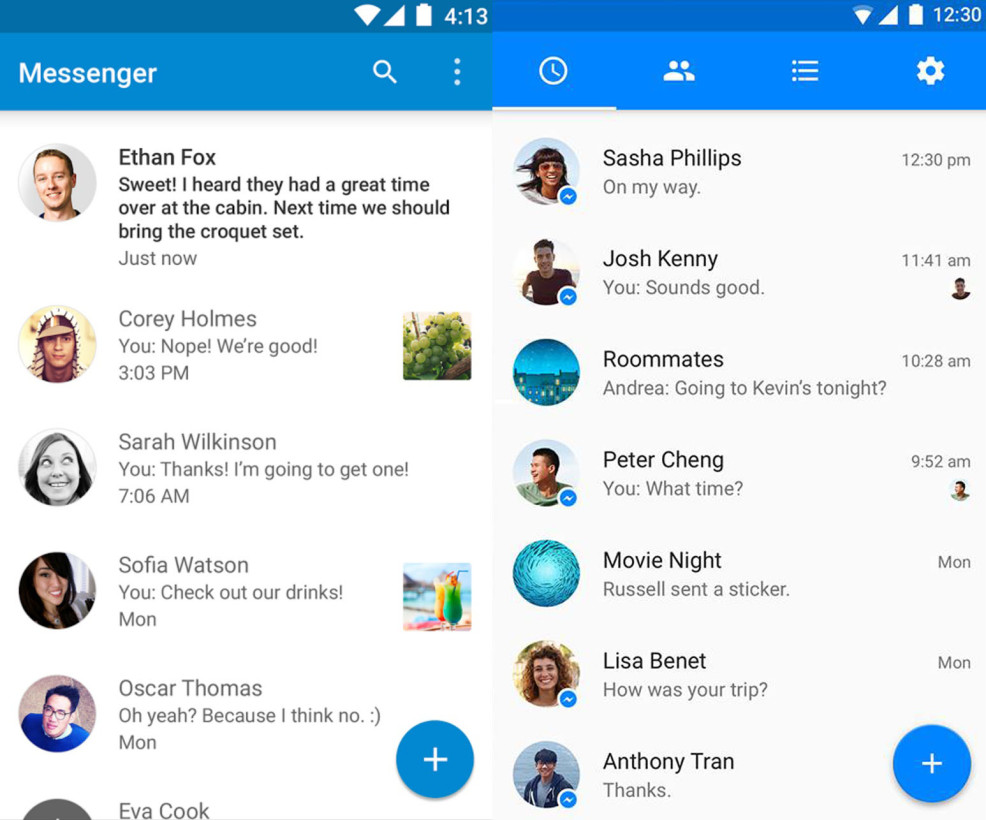 Facebook Messenger On Android Updated With Material Design Interface