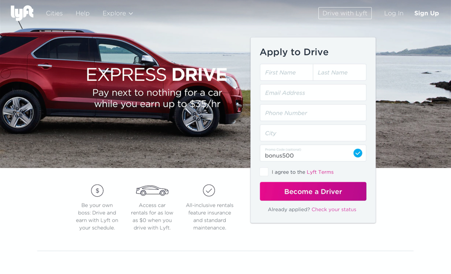 express drive programs for drivers by lyft thetechnews. Black Bedroom Furniture Sets. Home Design Ideas