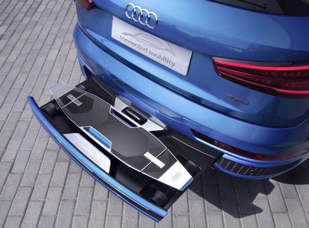 Audi Q Has Hidden Longboard Under Bumper Probably For The Cool - Cool audi