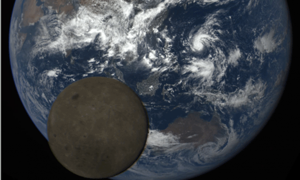 Watch the earth get photobombed by the moon   TheTechNews