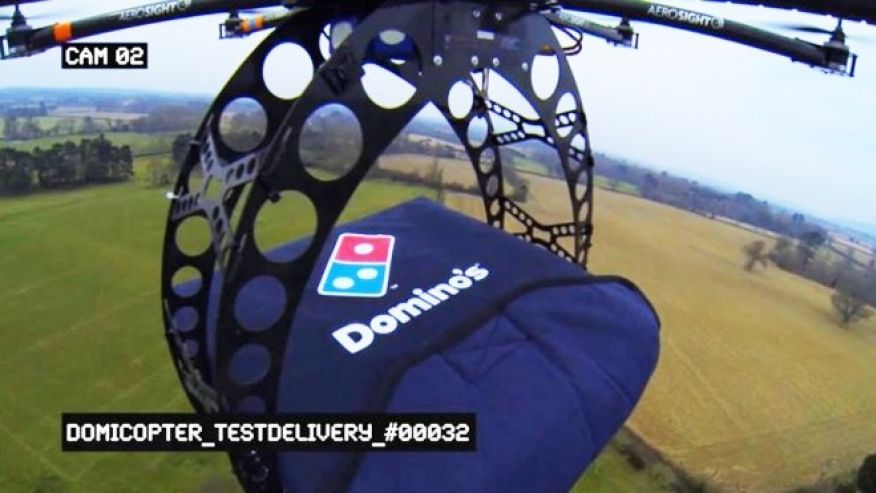 Dominos First Pizza Delivery By Drone Is A Success
