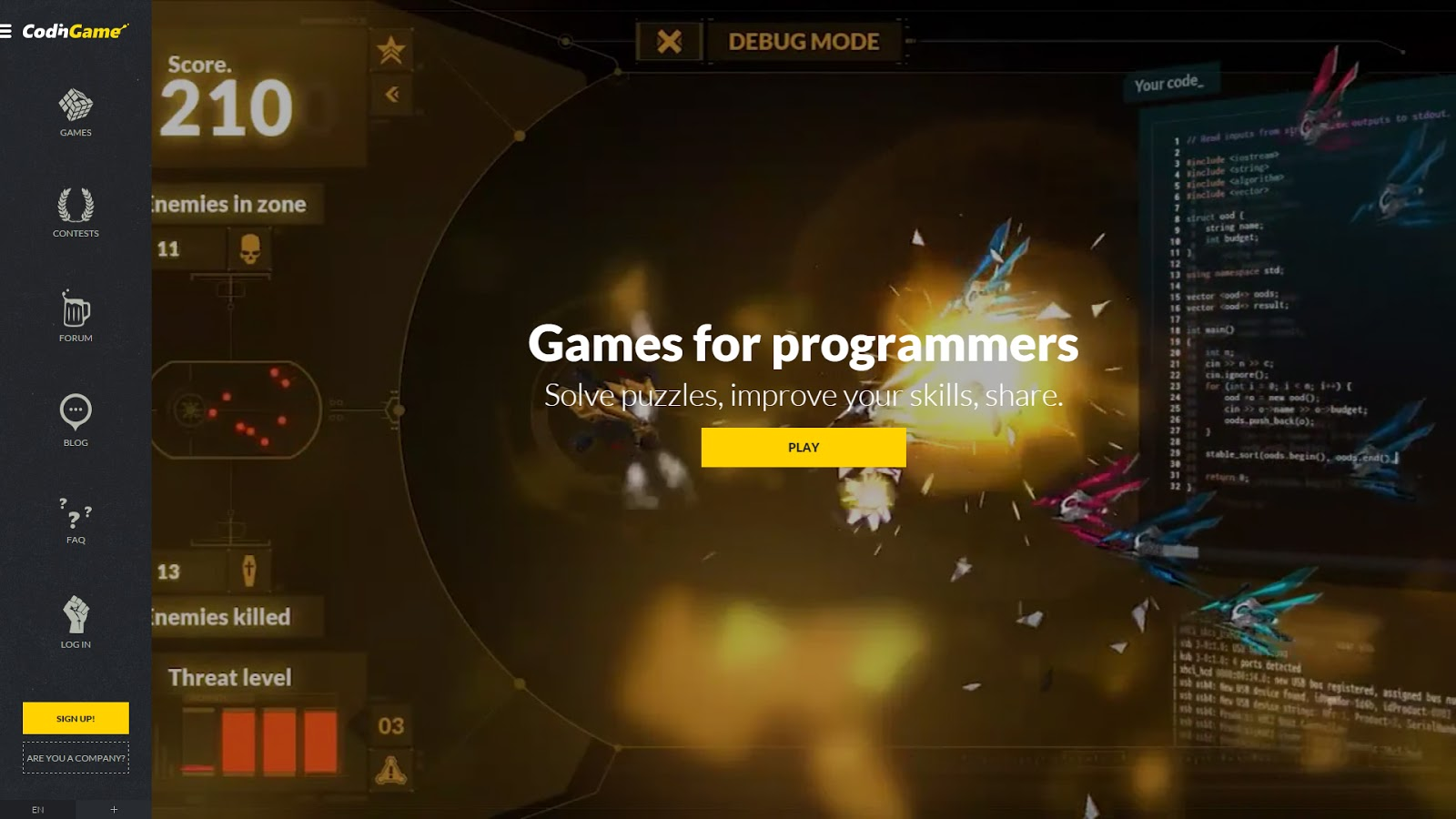Video game that trains you to become a better coder