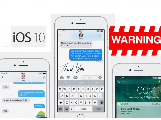 Caution! Apple's iOS 10 update causes problems | TheTechNews