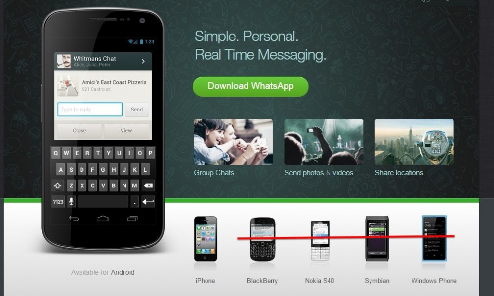Download whatsapp for android smartphones