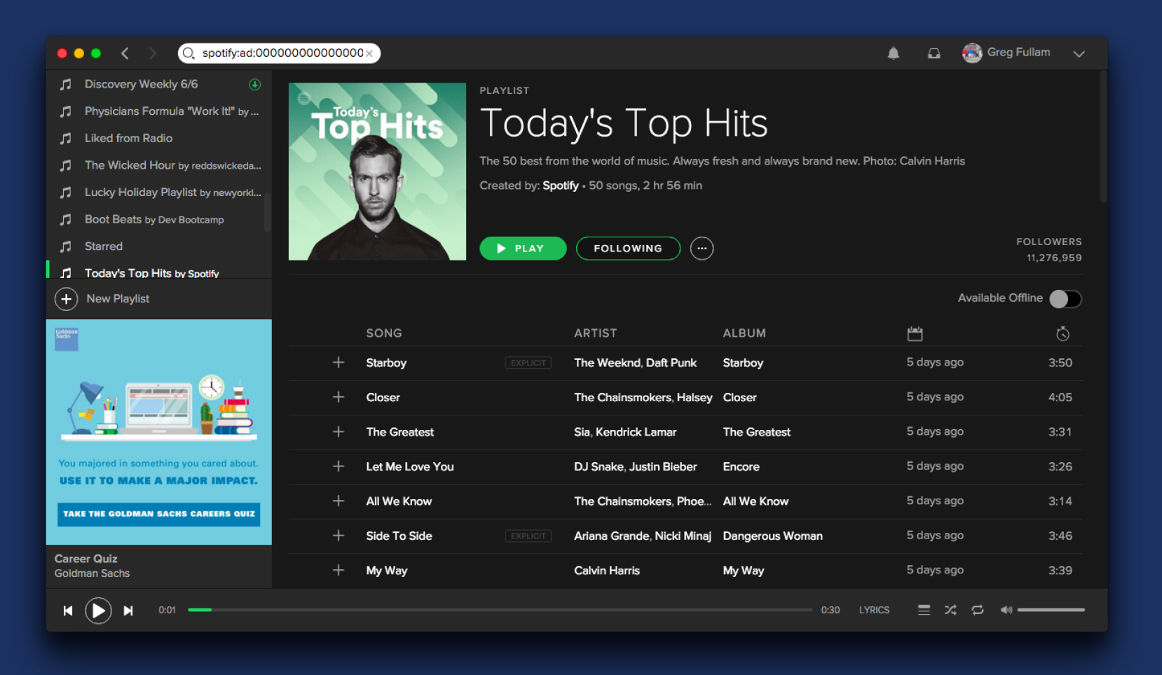 Mobile coupons via spotify campaign