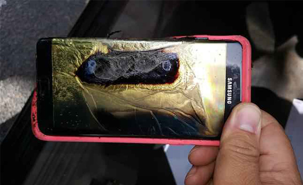 why galaxy note 7 was in flames