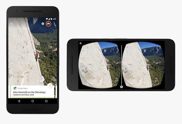Experience Google Street View with virtual reality
