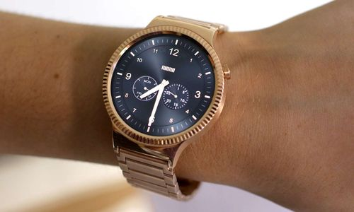 Huawei gold plated watch