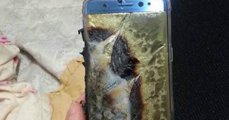 why Galaxy Note 7 battery burns