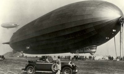 secret airship project in a Silicon Valley hangar
