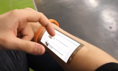 Cicret bracelet- like a tablet but on your skin