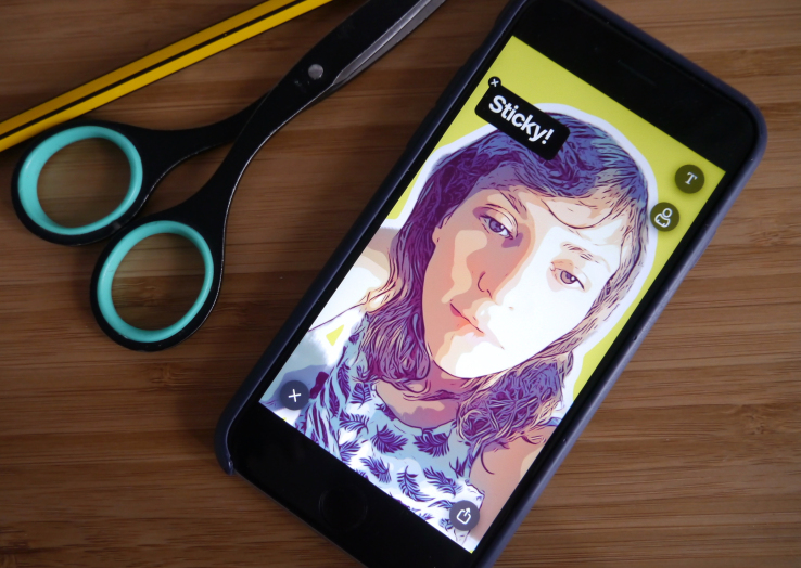 Prisma makes an app to turn selfies into chat stickers