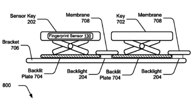 Patent shows that Microsoft wants to integrate a fingerprint sensor directly into the keyboard keys