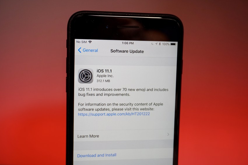 iOS 11 1 is available with a handful of security updates, emoji, and