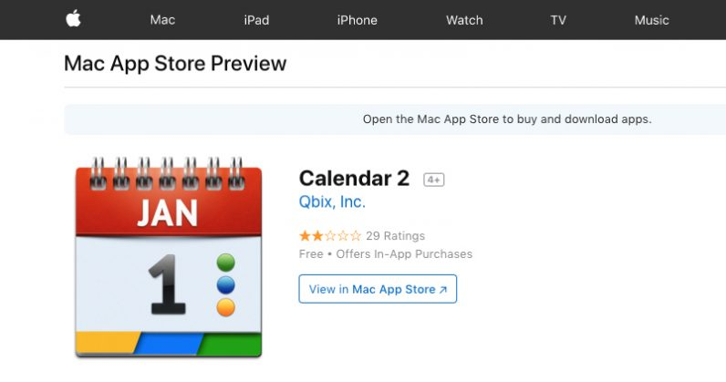 Calendar 2 Mac App Mines Cryptocurrency in the Background