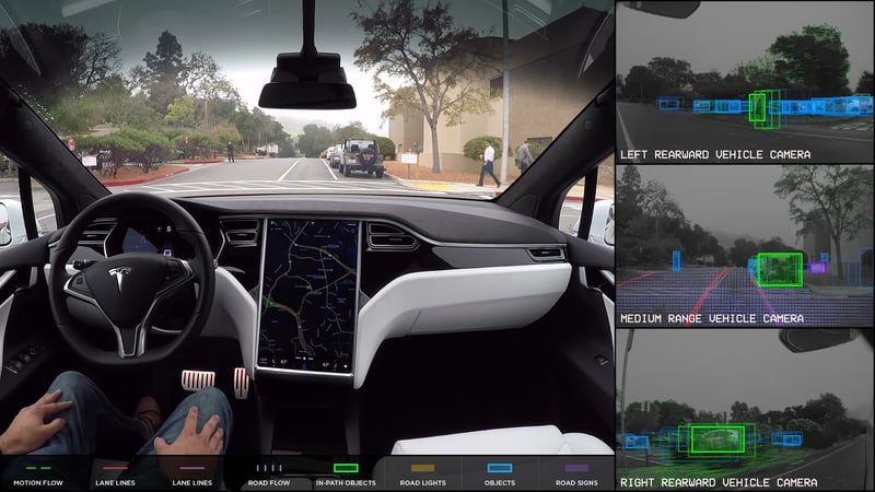 Tesla with Autopilot slams into fire truck stopped at red light