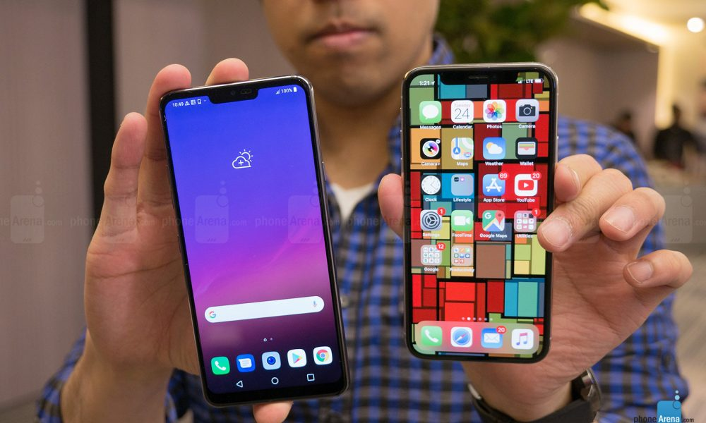 LG G7 thinQ did not copy iPhone X's Notched Design but LG