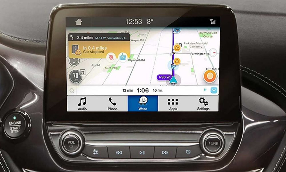 Ford Enables Waze Projection On Cars Touchscreen