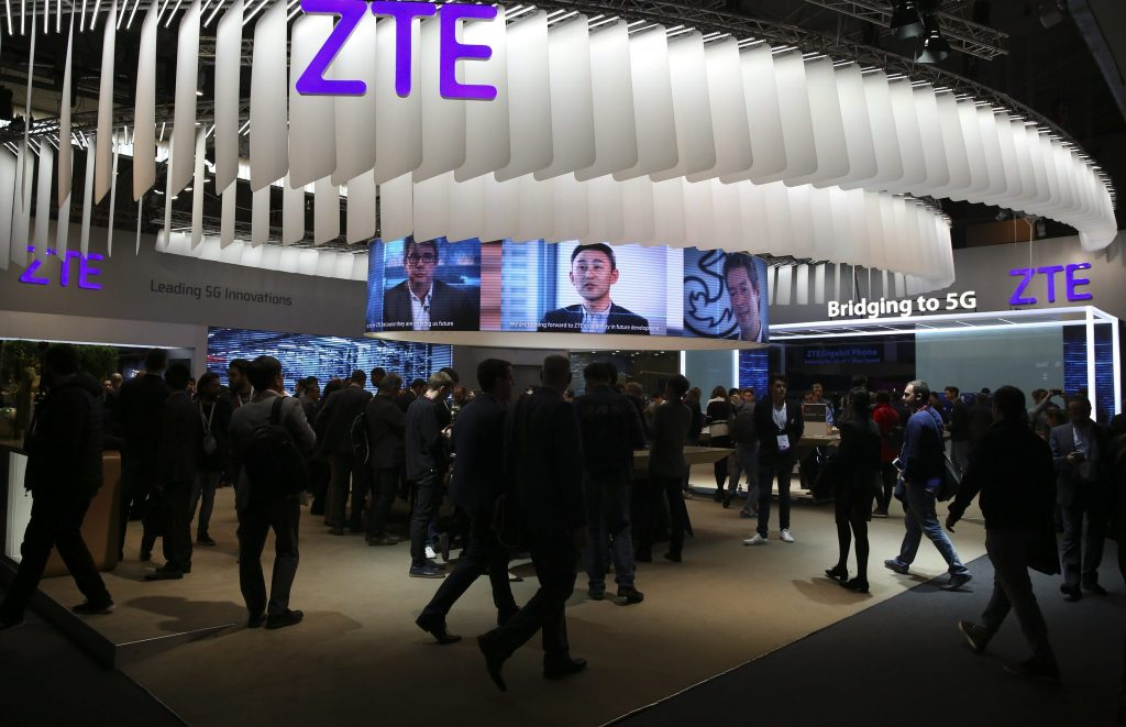 ZTE pays to the US government